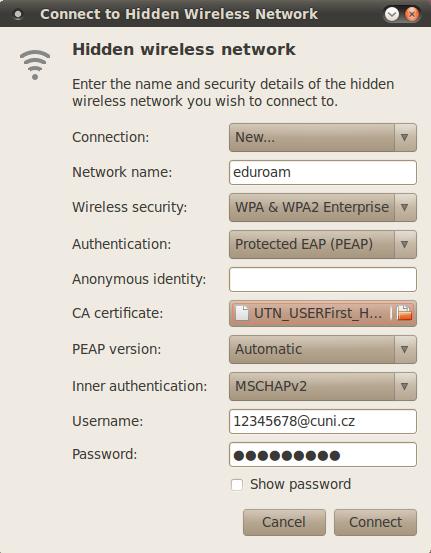 EDUROAM (wifi) | ÚFAL